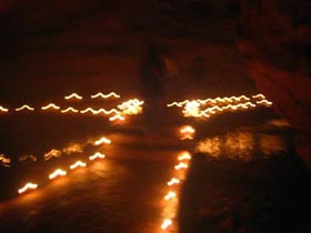 Cave Candles in Huangshan, 2007.