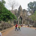 Angkor Wat Gateway with statues