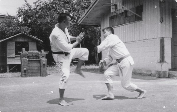 Johnny and Rene Sparring 1966