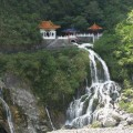 Temple with Waterfall