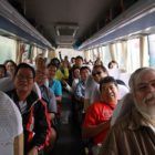 Silk Road - Tour group in bus