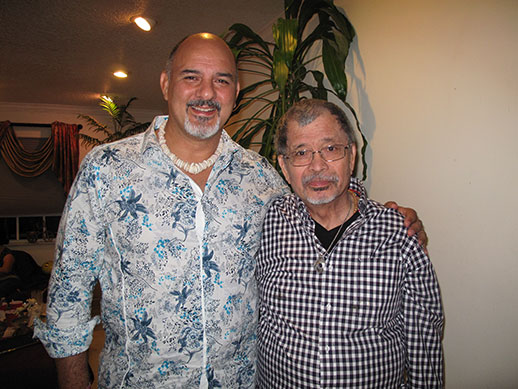 In Miami, Florida with Keith Cini, Tai chi, massage, and acupuncture practitioner, at my brother Rolly's birthday.